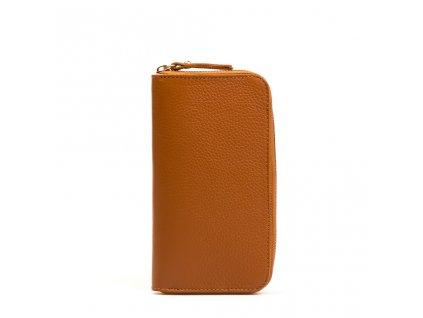 Kožená peněženka Olinda koňaková