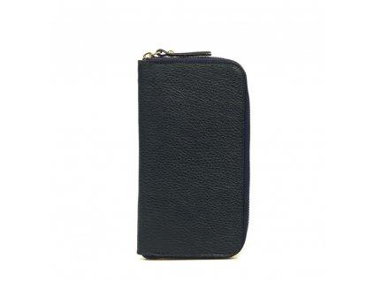 Kožená peněženka Olinda tmavě modrá