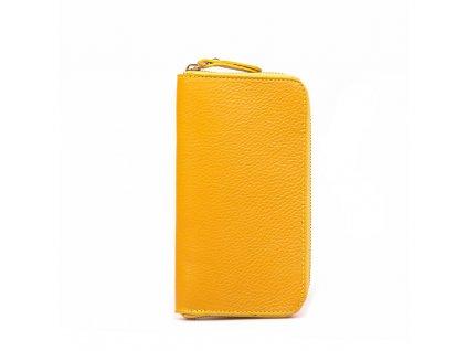Kožená peněženka Olinda žlutá