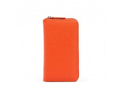 Kožená peněženka Anita oranžová