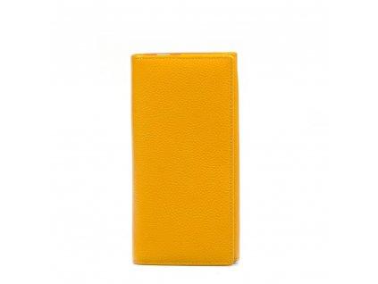 Dámská kožená peněženka žlutá
