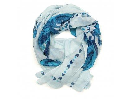 Dámský šál Ariel modrý