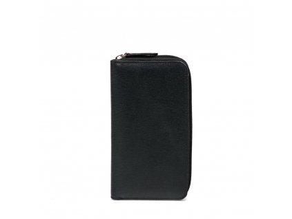 Dámská kožená peněženka černá