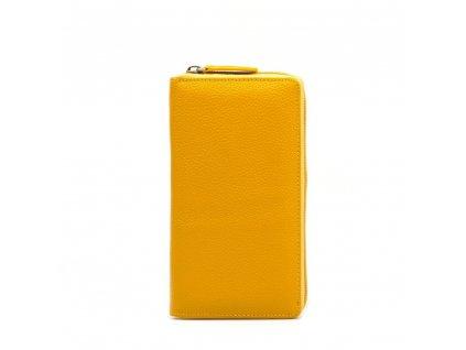 Kožená peněženka Rina žlutá