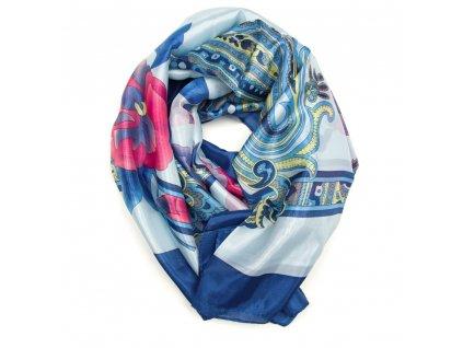 Dámský šátek Gerda modrý