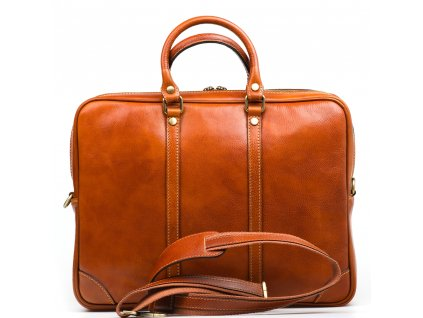 Kožená taška Gavin koňaková