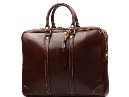 Kožená taška Gavin hnědá