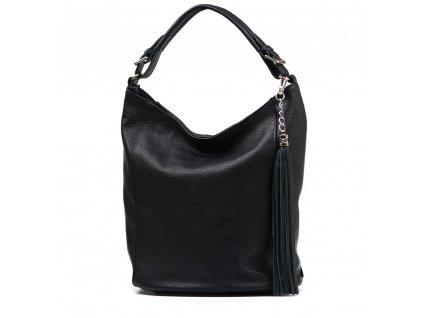 Kožená kabelka Sam černá