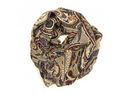 Dámský šátek s motivem Sara taupe