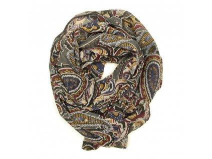 Dámský šátek s motivem Sara khaki