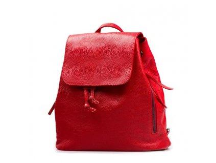 Kožený batůžek Tami červený