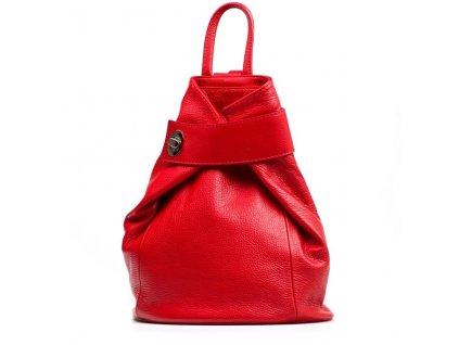Kožený batůžek Alma červený