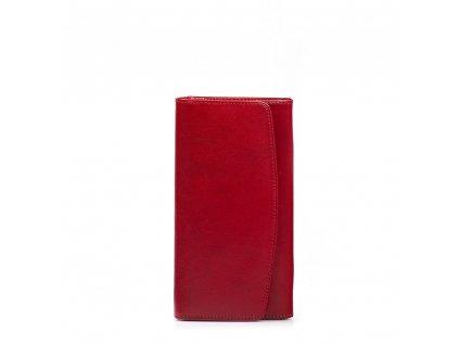 Kožená peněženka Tonia červená