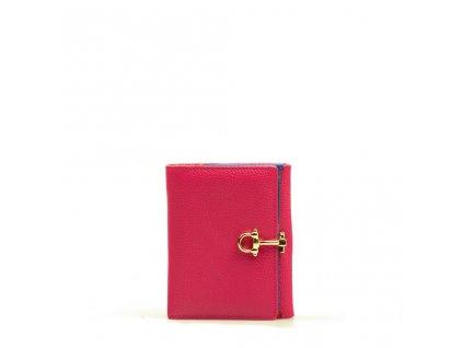 Kožená peněženka Lily fuchsiová