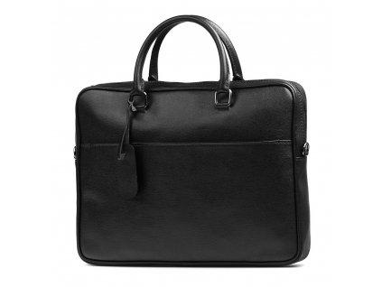 Kožená taška na notebook Valeria černá