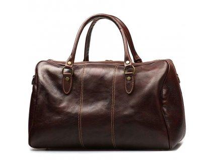 Kožená cestovní taška Verity tmavě hnědá