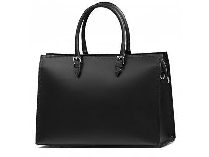 Kožená kabelka Siria černá