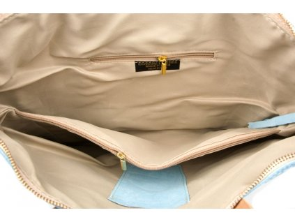Kožená kabelka Iole modrá