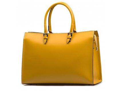 Kožená kabelka Siria žlutá