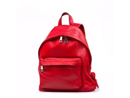 Kožený batůžek Sissi červený