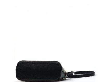 Kožená crossbody kabelka Violeta černá