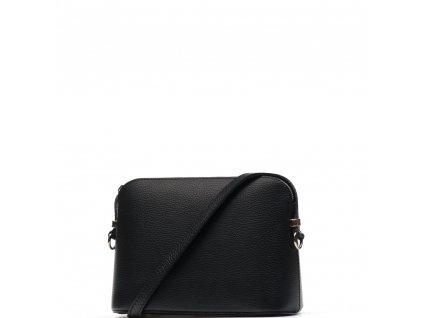 Kožená kabelka Violeta černá