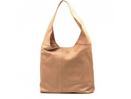 Kožená kabelka Soraya starorůžová