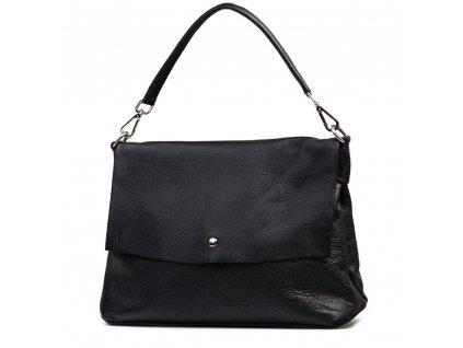 Kožená kabelka Briana černá