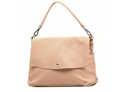 Kožená kabelka Briana růžová