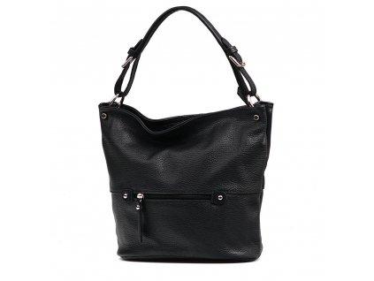 Kožená kabelka Giuly černá