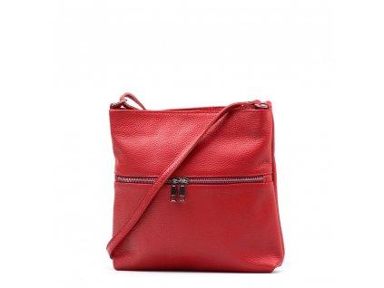 Kožená crossbody kabelka Enola červená