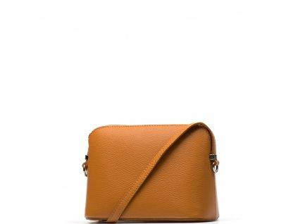 Kožená kabelka Violeta koňaková