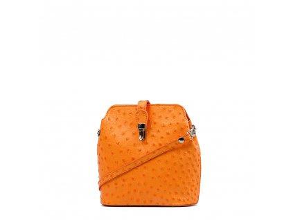 Kožené crossbody Ines oranžové