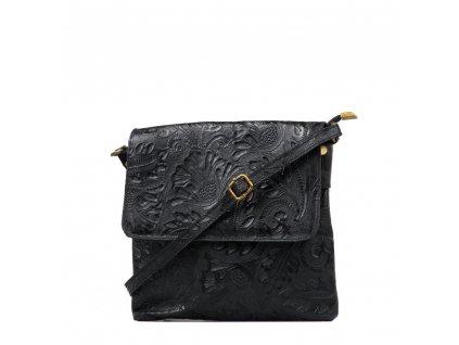 Kožená crossbody kabelka Linda černá