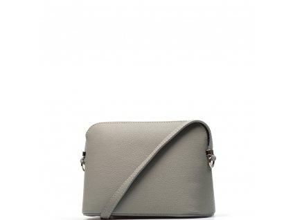 Kožená crossbody kabelka Violeta světle šedá