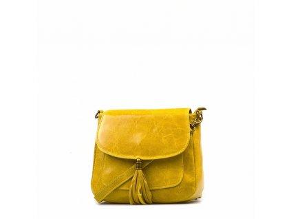 Kožená crossbody kabelka Nella žlutá