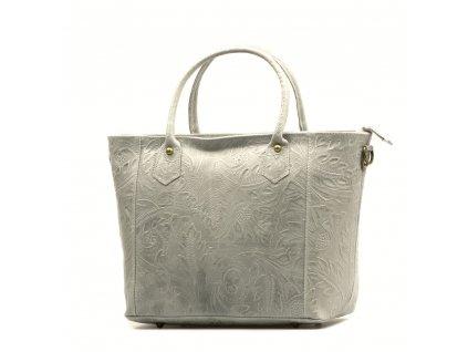 Kožená kabelka Cindy šedá
