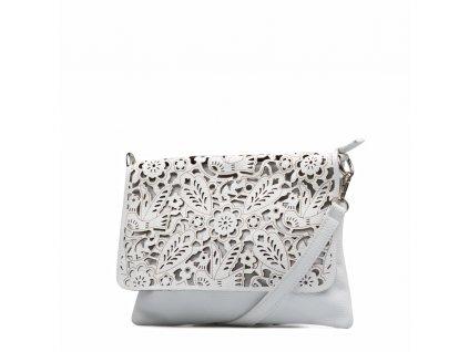 Kožená kabelka Melisa bílá