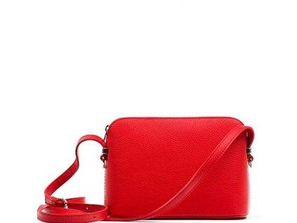 Kožená kabelka Violeta červená