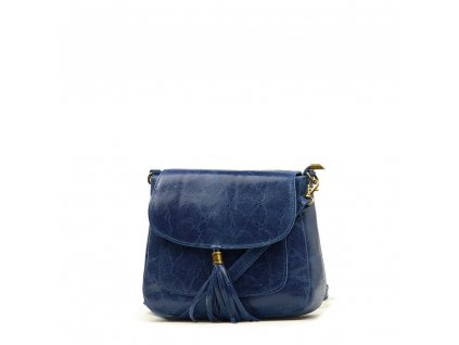 Kožená crossbody kabelka Nella džínově modrá