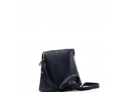 Kožená crossbody kabelka Violeta tmavě modrá