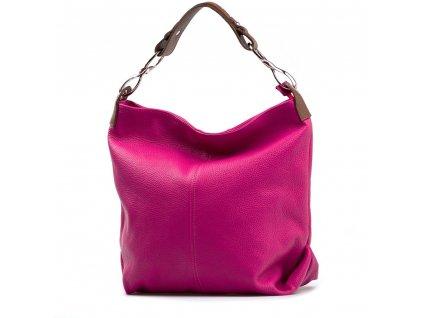 Kožená kabelka Cira fuchsiová