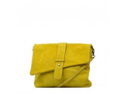 Kožená kabelka Eden žlutá