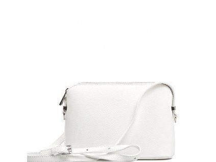 Kožená crossbody kabelka Violeta bílá