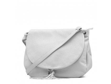 Kožená kabelka Sonia bílá