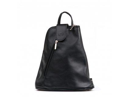 Kožený batůžek Zeudi černý
