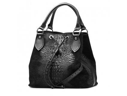 Kožená kabelka Flaminia černá