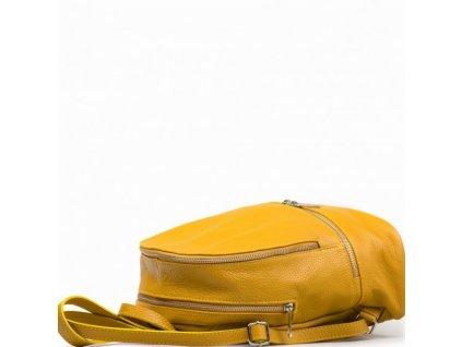 Kožený batůžek Zula žlutý