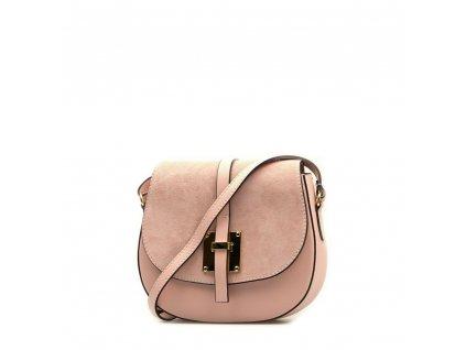 Kožená crossbody kabelka Annis růžová