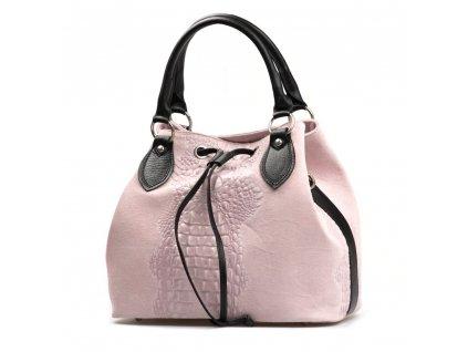 Kožená kabelka Flaminia růžová
